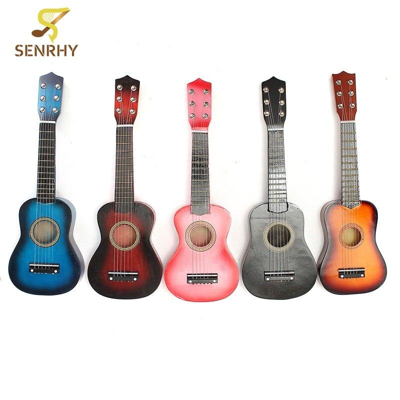21 ''6 cuerdas práctica guitarra acústica ukelele Uku instrumentos de música para niños juguetes musicales música educativa regalos de guitarra
