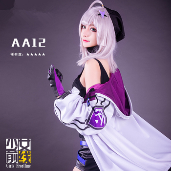 [Dem.STOCK] 2018 Game Girls Frontline AA12 Battle Unifrom Cosplay Costume Full set For Women Christmas Carnival Free Shipping.