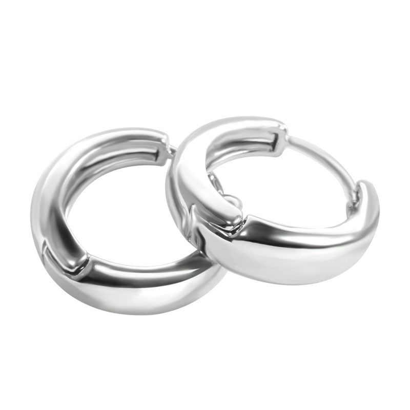 ทองเงินชุบต่างหู Minimalist หนา Hoops วงกลมแหวน Steampunk ผู้หญิงหูแหวนหญิงเครื่องประดับอินเทรนด์