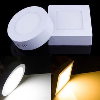 Luz de techo de superficie LED 9W 15W 25W Lámpara de techo AC85-265V Controlador incluido Cuadrado redondo Panel de luz interior para decoración del hogar 1