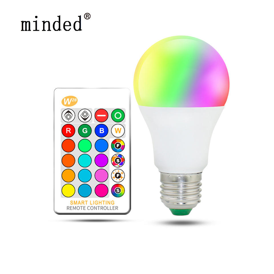 RGB LED Bulb E27 85-265V 3W LED Lamp E27 220V 110V Spotlight Lamparas LED Light Bulb E14 Spot Luz Christmas Lampadas 16 Color