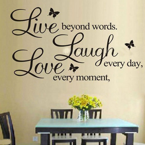 Hot DIY PVC Letters LIVE LAUGH LOVE Room Mural Wall Art Sticker Decal Home  Decor FFY
