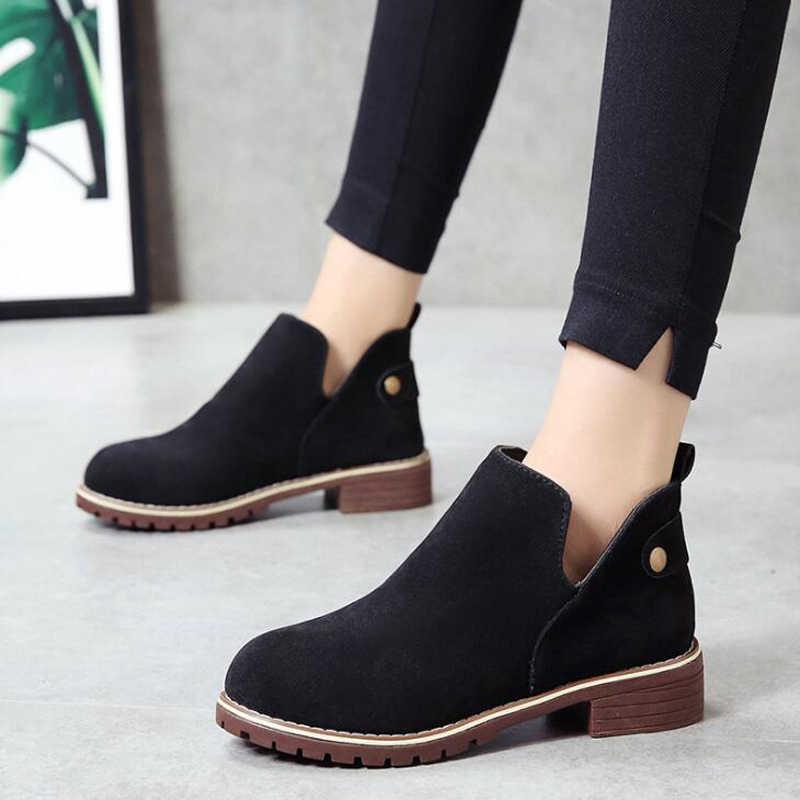 Kadın yarım çizmeler 2018 platform kadın martin çizmeler bahar kadın ayakkabı akın kadın çizmeler botas de mujer