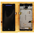 For HTC windows phone 8X LCD Display Touch Screen Digitizer Assembly with frame ,Blue , Free Shipping