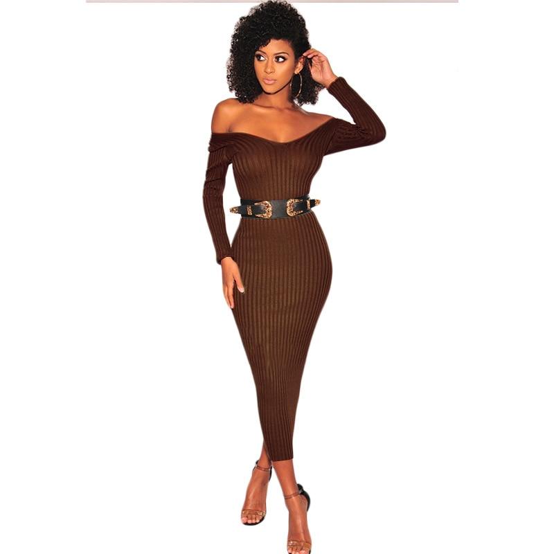 blanc Moulante Fête Lady Maxi Nouveau 2019 Longues Encolure vert Bandage À Noir Robe Tricoté Mode K9295x Femmes Manches De Longue Office Bikinis marron ngBCzwxzqT