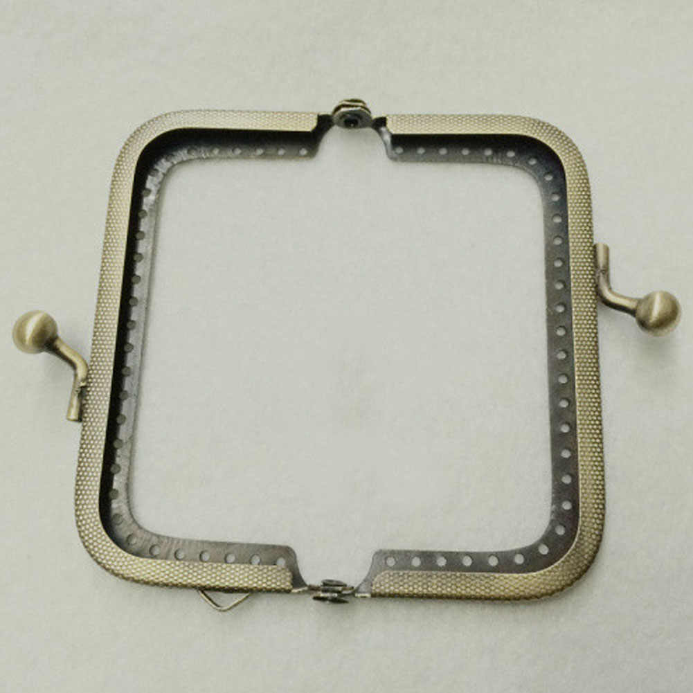 Bronze Embossing  Metal Purse Frame Handle Kiss Clasp DIY Bag Clutch Accessory Tailor Sewing Craft