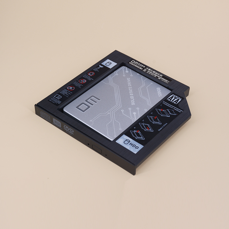 DM <font><b>SSD</b></font> <font><b>Adapters</b></font> DW127 12.7mm Plastic Optibay SATA 3.0 Hard Disk Drive Box Enclosure DVD <font><b>Adapter</b></font> 2.5 <font><b>SSD</b></font> 2TB For Laptop CD-ROM image
