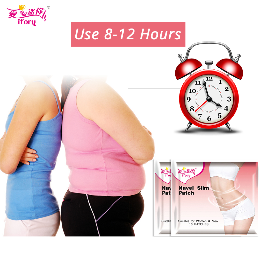 Ifory 20 Pieces/2 Bags Fat Burner Weight Loss Patch Slimming Navel Stick Natural Slimming Diet Products Body Slim Cream 40pcs slim patch weight loss garcinia cambogia reduce diet nature slimming burn fat weight loss effective better curbs appetite