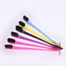 3pcs Beauty Double Sided Edge Control Hair Comb Hair Styling Hair Brush 2018 NEW Random Color