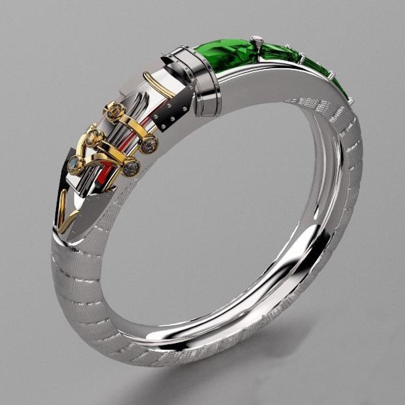 Heroes union surrounding custom jewelry LOL theme hero alchemist Sinjid custom jewelry ring