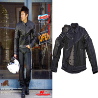Motorcycle Jacket Men Spring Summer For KOMINE Dain Casual wear Denim Mesh Turtle Motocross Jackets Riding Veste Chaquetas Moto