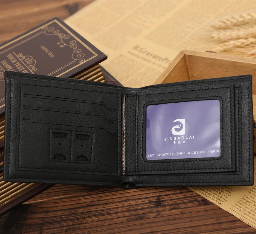 New PU leather wallet men wallets luxury brand clutch wallet Brown money clip mens leather wallet male purse cuzdan JINBAOLAI