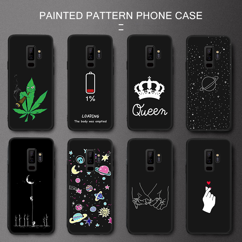 Case For Samsung Galax S8 S9 S10 A7 A8 A6 Plus <font><b>2018</b></font> Universe Space Pattern TPU Cover for Samsung <font><b>Galaxy</b></font> A5 A7 2017 S10E Note <font><b>8</b></font> 9 image