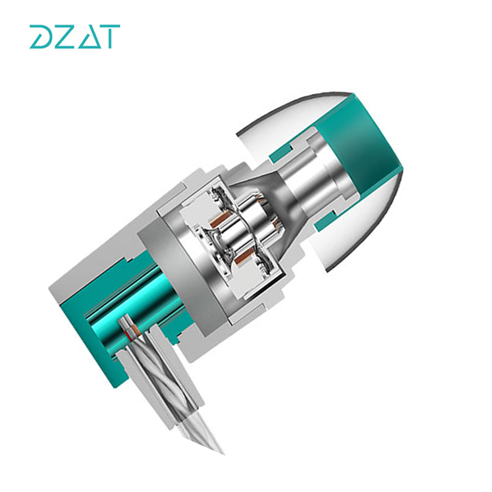 DZAT DR20 HIFI Earphones In Ear DJ Monito Super Bass Earplug Headsets Stereo Surround Earbuds For