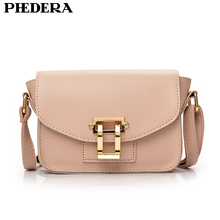 PHEDERA Brand Fashion Small Summer Flap Bag for Women PU Leather Female Crossbody Bags Pink/Red Lady Messenger Bag 2017 New