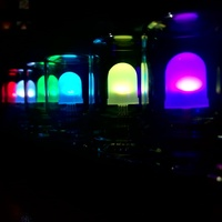2017 New Arrival Wholesale Price DIY Polar Lights LED Colorful Light Cube Chromatography Glass Clock Kit