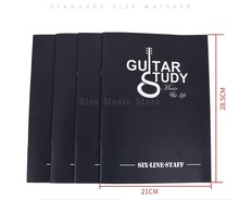 24 Sheets 1Pcs Music Practice Notebook Piano Violin Musical Notes Book Universal Six-line Spectrum of the sheet