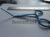 Titanium Notched Vascular Clamp forceps 12.5cm Neurosurgery surgical Operation instruments
