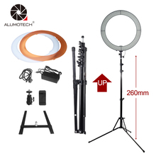 Alumotech 18″Ring LED Light+Stand Selfie Lights 60W 5500K/3200K Dimmable Lamp Bulbs for Camera Photography Studio Phone Video