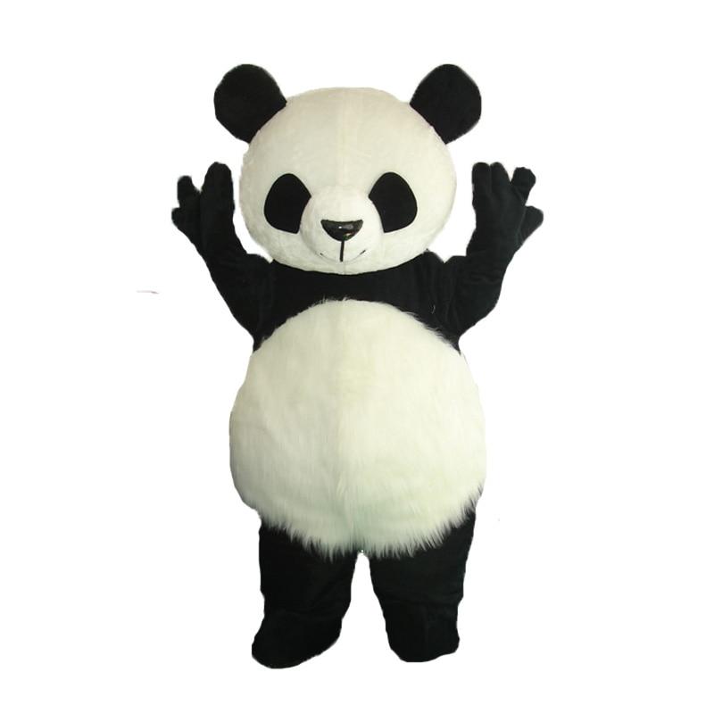 Жоғары сапалы панда маска костюмі Хэллоуин Косплей күлкілі аю жануарлар Маскот костюм ересек өлшемі