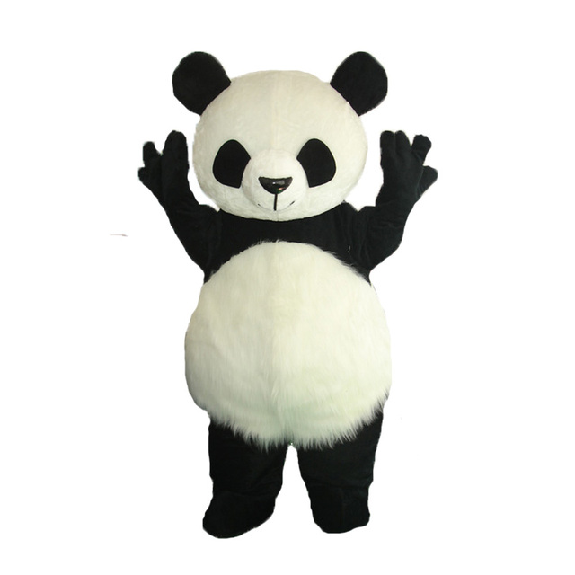 High quality panda Mascot Costume Halloween Cosplay funny bear animal Mascot Costume Adult Size