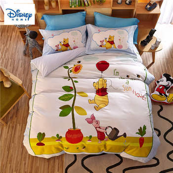 3D Winnie the pooh Piglet bedding set queen size comforter duvet covers for kids bedroom decor twin bed sheets cotton bedspread