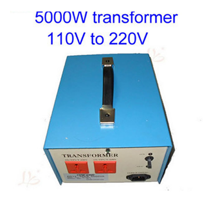 Free shipping! 5000W transformer 110V to 220V 5KW voltage converter, for 110V voltage countries using 220V machine,hot