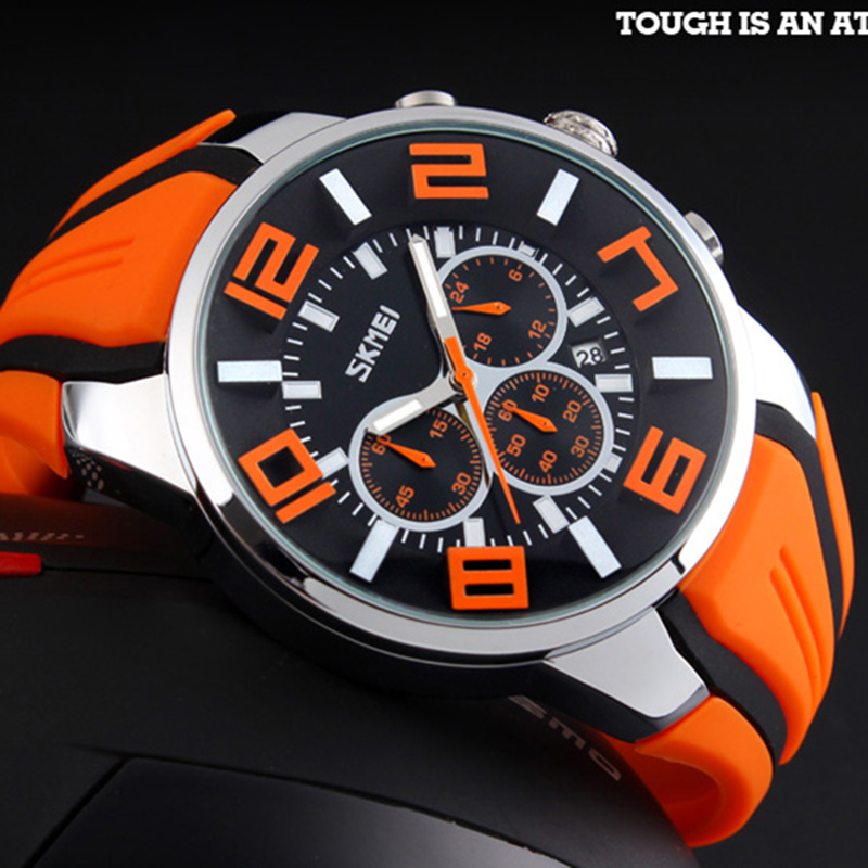 Image 3 - Watches Men Luxury Brand SKMEI Chronograph Men Sports Watches Waterproof Male Clock Quartz Men's Watch reloj hombre 2018-in Quartz Watches from Watches