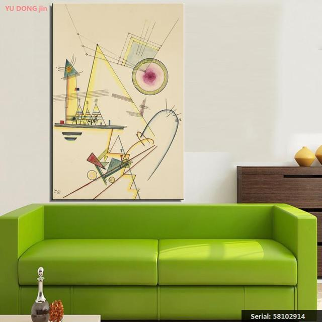 Us 8 72 46 Off Wassily Kandinsky Still Life Abstract Oil Painting Drawing Art Spray Unframed Canvas Airbrush Iron Wax Airbrush Straw58102914 In