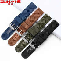 High Quality Camouflag Military Nylon Watchband Nato Zulu Strap 22mm Canvas Replacement Watch Band for Casio Seiko Free tools