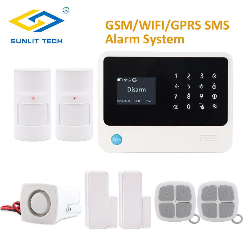 GS-G90B Plus WIFI GSM Alarm System Security Home GSM Alarme System APP Control Wired Alarm Pet Immune PIR Detector DIY Kit yobangsecurity wireless wifi gsm gprs rfid home security alarm system smart home automation system pet friendly immune detector