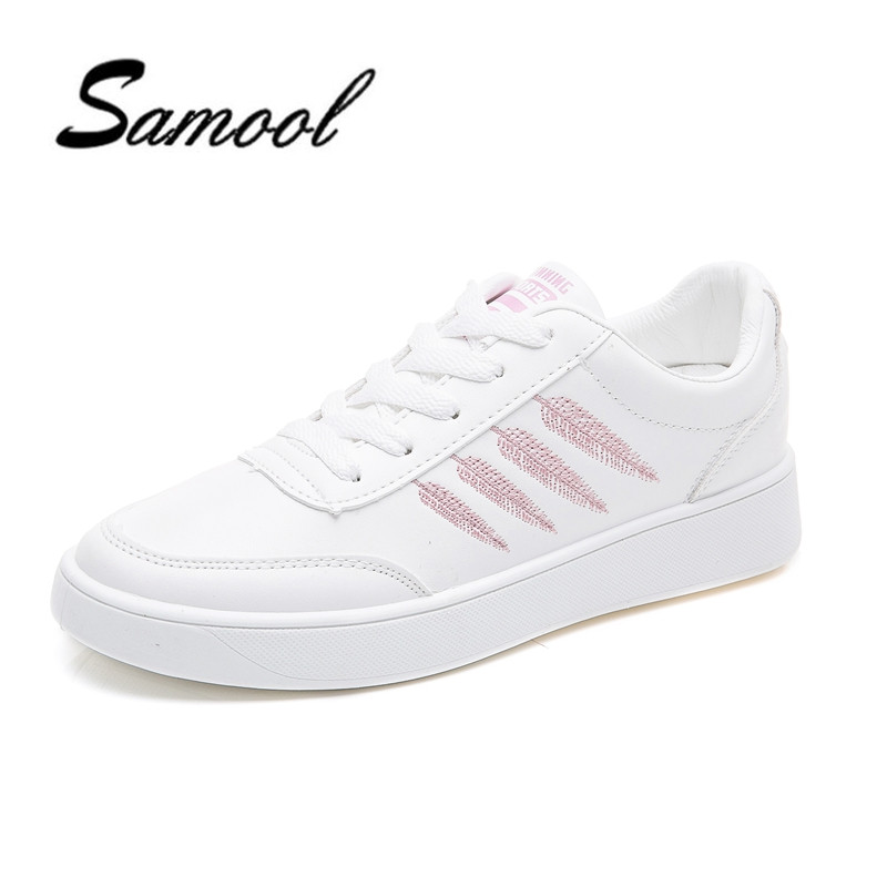 2018 women shoes new fashion casual platform PU leather classic women round toe lace-up non-slip white spring autumn shoes lx5 2017 spring and autumn new leather lace women s shoes fashion pop shoes casual hot models round the elderly ladies shoes