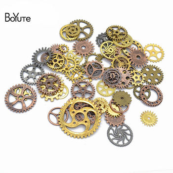 BoYuTe (30 Gram/Lot) Mix Styles Metal Steam Punk 6 Colors Steampunk Gears Diy Alloy Jewelry Accessories
