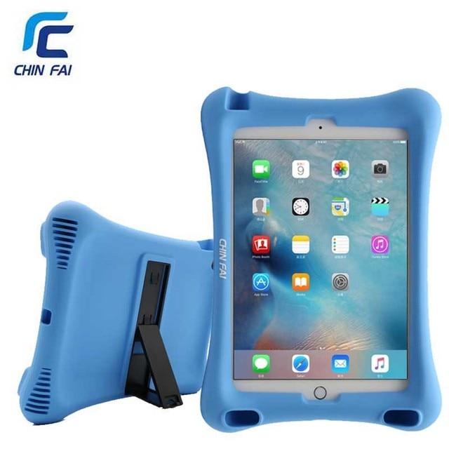 CHINFAI 1:1 Kid Thân Thiện cho iPad 2018 2017 A1822 A1893 Có Thể Rửa Silicone Chống Sốc Giá Đỡ cho iPad Air Pro 9.7