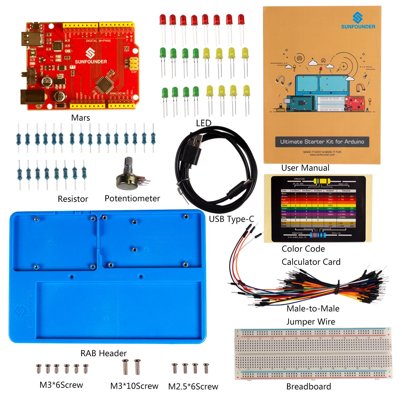 SunFounder Ultimate Starter Kit For Arduino Uno R3 Mega 2560 With Detailed Manual For Beginner
