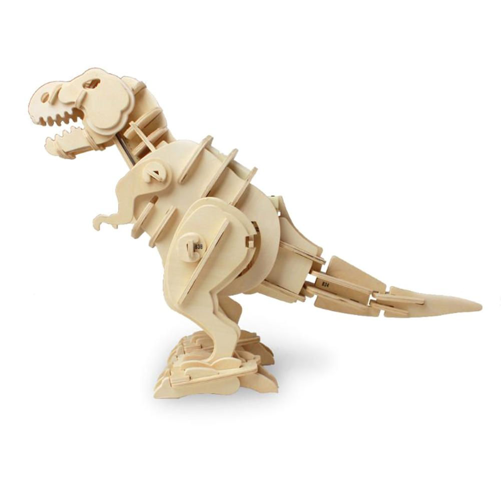 Robotime Classic Dinosaur Electric Childrens DIY Intelligence Puzzle Building Game Toys