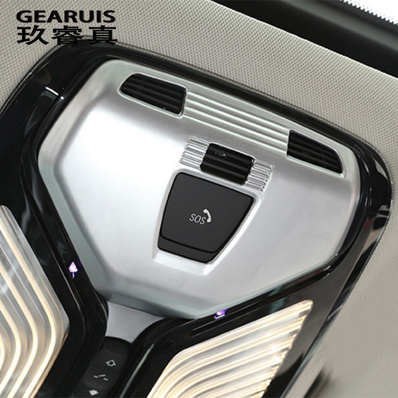 Car Styling Front Reading Lights Decorative frame Covers Stickers Trim For <font><b>BMW</b></font> <font><b>X3</b></font> <font><b>G01</b></font> 5 Serise G30 G38 Interior auto Accessories image
