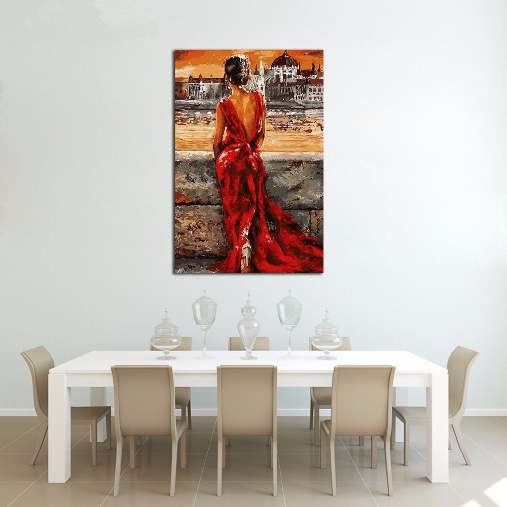 Diy Oil Painting By Numbers Canvas Picture Adult Coloring Paint Body Acrylic Painting Calligraphy By Number Wall Decor Girl Paint By Number Aliexpress