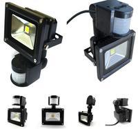 Toptan 10 W PIR LED Yol Lamba Açık Hareket sensörü Projektörler IP65 Güç tasarrufu 10 Adet/grup AC85-256V Ücretsiz Kargo
