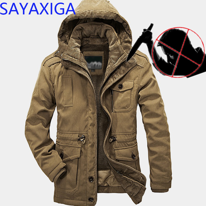 Self Defense Security Anti-cut Men Fleece Jacket Coat Anti-Stab Stealth Defense Police Military outfit Tactics hooded outwear4XL
