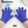 WENDYWU2016 зима детская плюшевые перчатки конфеты цвет коралловых бархатной начальной школы студенты сплошной цвет теплые перчатки для 3-8 год
