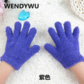 WENDYWU2016 winter children's plush gloves candy color coral velvet primary school students solid color warm gloves for 3-8 year