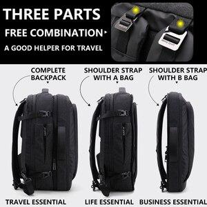 Image 3 - Grande capacidade 17 polegada portátil mochila multifuncional à prova dwaterproof água dos homens de negócios viagem volta pacote preto masculino qualidade sacos computador