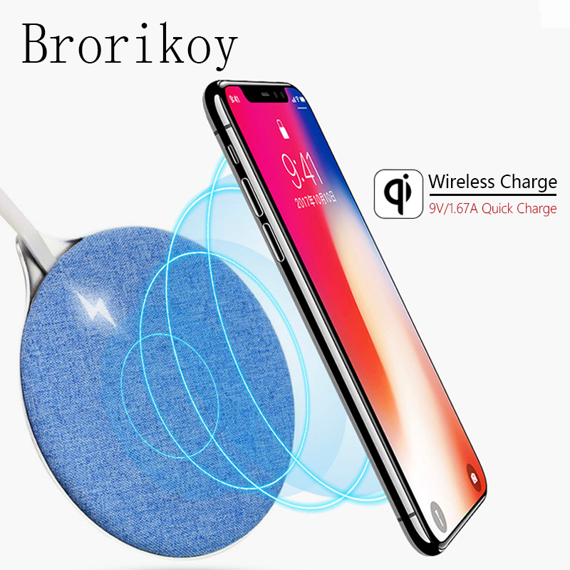 Qi Wireless Charger Dock for iPhone X Samsung Note 8 S6 S7