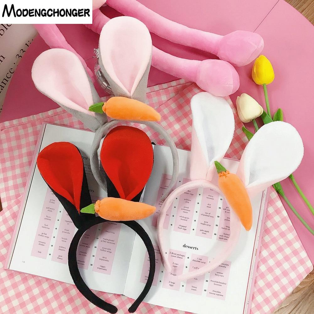 Fashion Hot Selling Rabbit Ears Head Bands Lady Girl Hairband lovely  Hair Bezel For Women Hoop Accessories Headwear