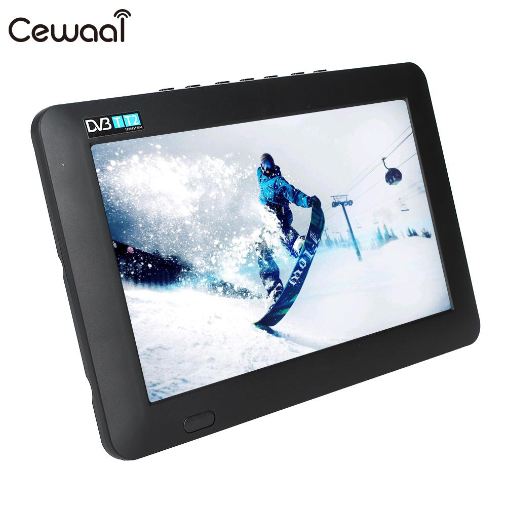 Cewaal 9 Inch Support TF Card Television Digital Analog