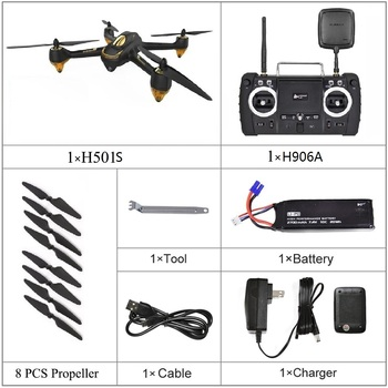 2019 Hubsan H501S H501SS X4 Pro 5.8G FPV Brushless With 1080P HD Camera GPS RTF Follow Me Mode Quadcopter Helicopter RC Drone