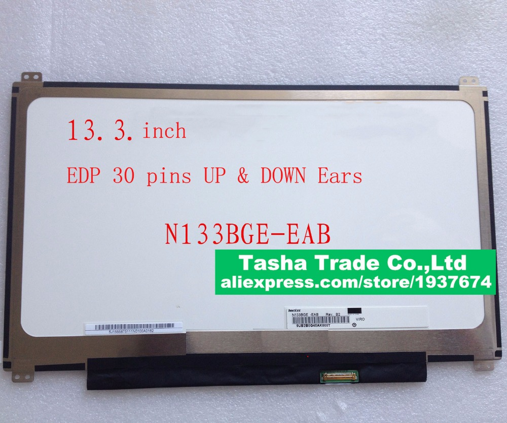 For ACER S5-391 LCD Screen N133BGE-EAB 1366*768 30pin Up+Down Screw Holes LCD Laptop Screen Original for asus zenbook ux32a laptop screen m133nwn1 r1 m133nwn1 r1 lcd screen 1366 768 edp 30 pins good original new