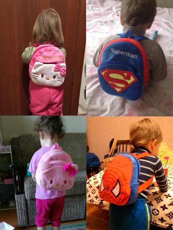 Nueva linda de dibujos animados para niños mochila de felpa juguetes - Peluches y felpa - foto 6
