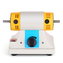 лучшая цена Mini TM Table Lathe Polishing Motor Jewelry Polishing Machine Rotary Burnishing Grinding Cleaning Finishing Motor